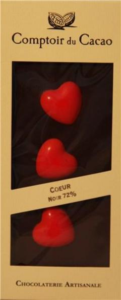 Inima de ciocolata neagra