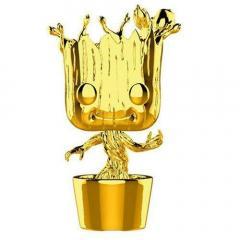 Figurina - Funko Pop! Marvel Studios 10th Anniversary Gold Chrome: Groot