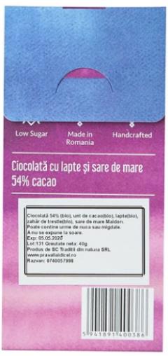 Ciocolata cu lapte artizanala cu sare de mare - Razvan
