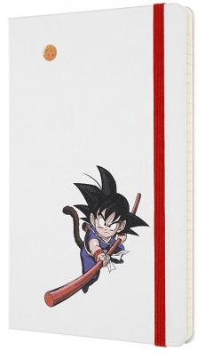 Carnet - Moleskine Dragonball Limited Edition Ruled Notebook - Large, Hard Cover, White - Goku