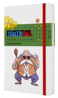 Carnet - Moleskine Dragonball Dotted Notebook - Large, Hard Cover, White - Master Roshi