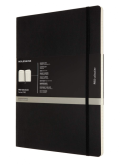 Carnet - Moleskine Pro Notebook - Soft Cover, Black