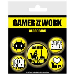 Set insigne - Gamer at Work