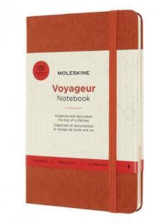 Carnet - Moleskine Voyageur - Medium, Hard Cover - Hibiscus Orange