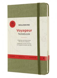 Carnet - Moleskine Voyageur - Medium, Hard Cover - Elm Green