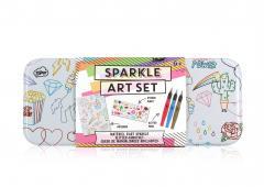 Set pentru desen cu sclipici - Sketch & Colour