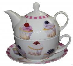 Tea for One cu farfurioara - Cupcakes