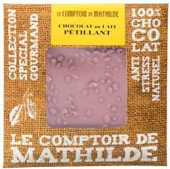Tableta de ciocolata Comptoir de Mathilde cu lapte si cristale de zahar