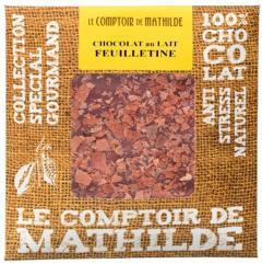 Tableta de ciocolata Comptoir de Mathilde cu lapte si biscuiti
