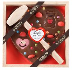 Ciocolata in cutie de lemn - Coeur