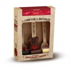 Set 3 lingurite ciocolata calda cuburi Comptoir de Mathilde Love Collection
