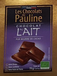 Ciocolata cu lapte - Les Chocolats de Pauline