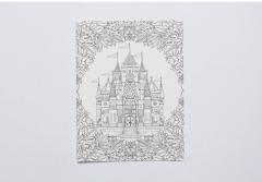Carte postala pentru colorat - Enchanted Forest - mai multe modele