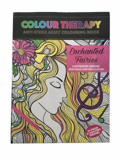 Carte antistres de colorat Enchanted Fairies