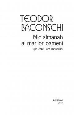 Mic almanah al marilor oameni (pe care i-am cunoscut)