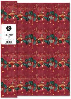 Hartie de impachetat - With Love At Christmas, Roll Wrap 300x70 cm
