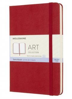 Carnet - Moleskine Art Sketchbook - Medium, Hard Cover, Plain - Scarlet Red