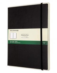 Carnet - Moleskine Smart Notebook Paper Tablet - Plain, Extra Large, Black