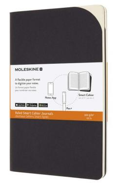 Carnet - Moleskine Smart Cahier - Ruled, Large, Black
