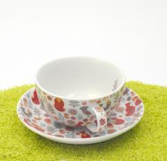 Set Tea For One Portelan - Vinterskog