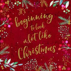 Felicitare Craciun_Its Beginning to look like Christmas Foil Art Xmas