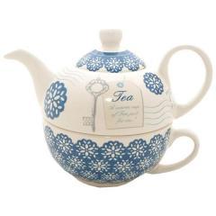 Ceainic si cana Tea For One Blue Daze