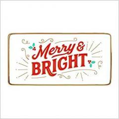 Tava decorativa - Merry & Bright Rectangle Porcelain Tray