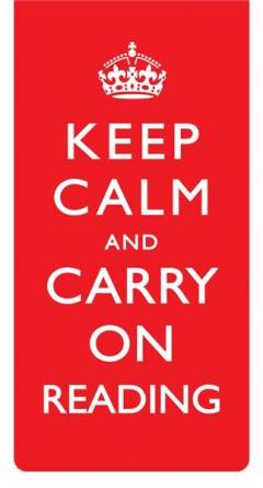Semn de carte magnetic Keep Calm and Carry On Reading