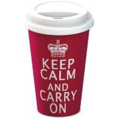 Keep Calm & Carry On - Red Travel Mug