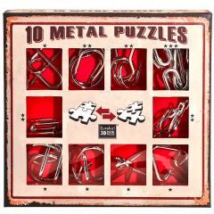 Set de 10 Puzzle-uri 3D - Metal - Red