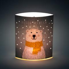 Lampa din hartie Dreamlights - Winter Bear