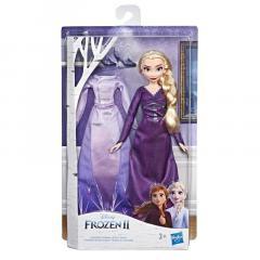 Papusa - Frozen 2 - Elsa cu rochita de schimb