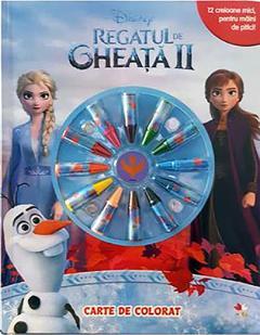 Regatul de gheata II (Frozen II). Carte de colorat cu minicreioane