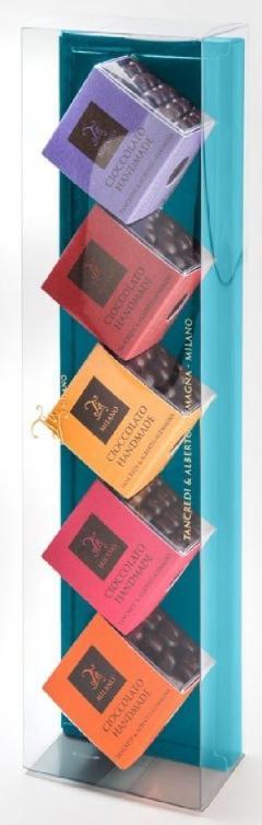 Set 5 tipuri de fructe trase in ciocolata - Fruit & Chocolate Gift Box