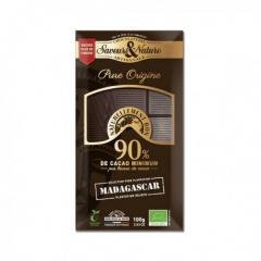 Ciocolata neagra 90% madagascar - 100 G Bio