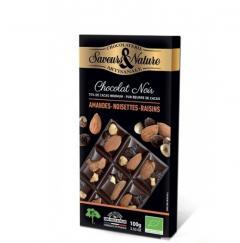 Ciocolata neagra - Table Incrustee Noir Mendiant Bio
