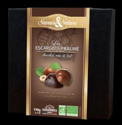 Cutie cu 16 bomboane de ciocolata  BIO / Coffret 16 escargots