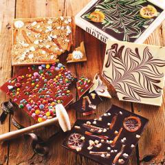 Ciocolata in cutie de lemn - Chocolat au lait Oscar ourson guimauve
