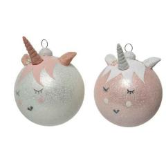 Glob decorativ - Bauble Unicorn - Winter White and Blush Pink - mai multe culori