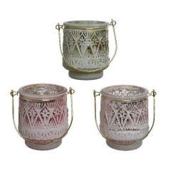 Suport pentru lumanare - Tlighth Flower Relief - Light Gold, Blush Pink, Candy Pink - mai multe culori