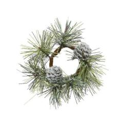 Ornament - Snowy Pine - White and Green