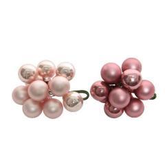 Decoratiune - Globe Baubles on Wire - Blush Pink and Velvet Pink - mai multe culori