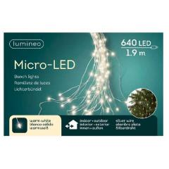 Decoratiune - 640 Micro LED Lights Bunch - Silver and Warm White