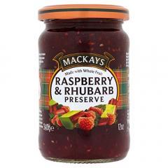 Marmelada - Raspberry and Rhubarb, 340 g