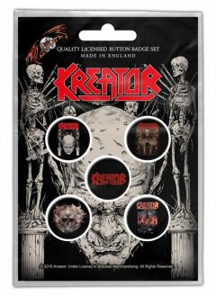 Set 5 insigne - Kreator - Skull and Skeletons