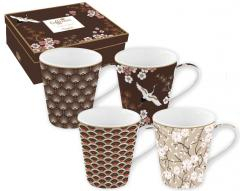 Set 4 cani- Coffee Mania Oriental