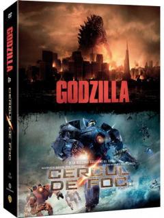 Pachet 2 DVD Godzilla + Cercul de foc / Godzilla + Pacific Rim