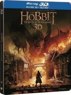 Hobbitul 3: Batalia celor cinci ostiri / The Hobbit: The Battle of the Five Armies Blu-Ray 3D Steelbook