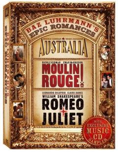 Baz Luhrmann's Epic Romances Box Set: Australia, Moulin Rouge, Romeo + Juliet