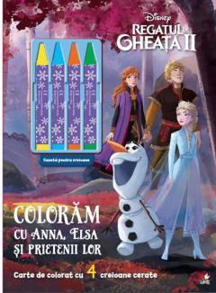Regatul de gheata II. Coloram cu Anna, Elsa si prietenii lor